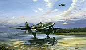 Luftwaffe Me-262A-1a, aviation art print by Barry Price