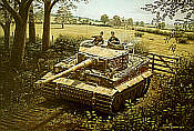 Wittmanns Tiger I in Villers Bocage, King Tiger art print by Barry Spicer