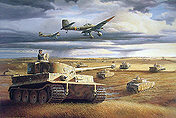Wittmanns Tiger at Kursk, Tank art print by Barry Spicer