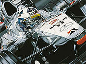 Double Home Victory, David Coulthard F1 motorsport art print by Colin Carter