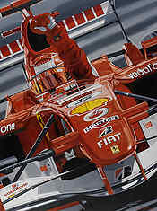 Farewell to the Master, Michael Schumacher Ferrari F1 motorsport art print by Colin Carter