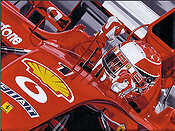 Michael Schumacher Ferrari GP F1 motorsport art print by Colin Carter