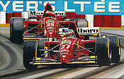 Happy Birthday Jean, Jean Alesi Ferrari Formula One art print by Colin Carter