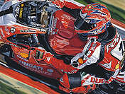 King Carl, Carl Fogarty Ducati motorcycle art print by Colin Carter