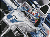 The Colombian Challenge, Juan Pablo Montoya BMW Williams Formula One art print by Colin Carter