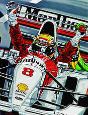 The Last Victory, Ayrton Senna McLaren F1 art print by Colin Carter