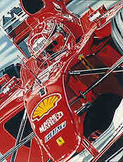 The Ringmaster, Michael Schumacher Ferrari F1 Nuerburgring art print by Colin Carter