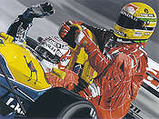 Two of a Kind, Nigel Mansell and Ayrton Senna Formula-1 art print Colin Carter