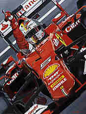 Victory for Jules - Sebastian Vettel wins the Hungarian Grand Prix 2015 with Ferrari