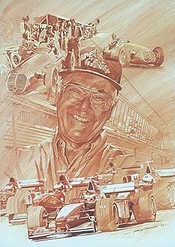 Murray Walker OBE, Portrait of Formula One Commentator by Craig Warwick