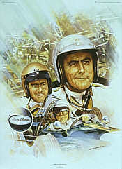 Sir Jack Brabham, Formula One World Champion art print by Craig Warwick