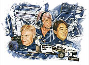 Tyrrell Team 1996 signed Formula One art print by Craig Warwick
