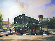 In der Fremde, Steam Locomotive 18 201 Railway Art print by Daniela Koenig