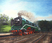 Schnell, Schneller, Steam Locomotive 18 201 Railway Art by Daniela Koenig