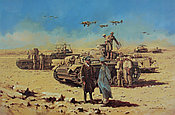 The Desert Fox - Rommel at El-Alemein - Military Art by David Pentland