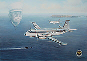 Breguet-Atlantic, aviation art print by Friedl Wuelfing