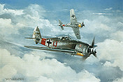 Focke-Wulf Fw 190 A-7 Heinz Baer aviation art print by Friedl Wuelfing