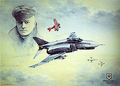 Geschwader Richthofen, F-4F Phantom aviation art print by Friedl Wuelfing