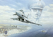 JG-73 Steinhoff, Eurofighter Typhoon aviation art print by Friedl Wuelfing