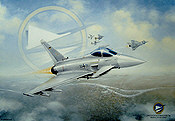 Jagdgeschwader 74 Typhoon, Eurofighter aviation art print by Friedl Wuelfing