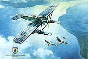 Hansa Brandenburg W 29 MFG-2 aviation art print by Friedl Wuelfing