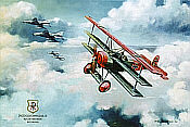 Richthofen Fokker DR I with F-4F Phantoms JG 71 aviation art print by Friedl Wuelfing