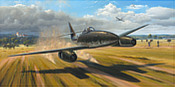 Outrun the Eagles - Messerschmitt Me 262 Aviation Art by Garreth Hector