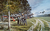 Thunder in the Sky, Fw 190 D and Me 262 JV44 aviation art print by Geoff Nutkins