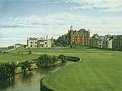 St Andrews Swilcan Burn Scotland, Golf Art print by Graeme Baxter