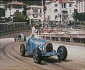 1931 Monaco Grand Prix - Louis Chiron's Bugatti 51 - Motorsport art print by Graham Turner