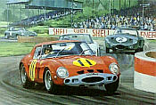 1963 Goodwood TT, Graham Hill Ferrari 250 GTO motorsport art print by Graham Turner