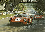1963 Le Mans, Ferrari 250P motorsport art print by Graham Turner