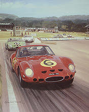 Ferrari 250 GTO of John Surtees in Goodwood 1962 - Motorsport Art by Graham Turner