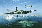 Last Man Standing, B-17G Squawkin Chicken aviation art print by Heinz Krebs