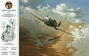 Stern von Afrika, Bf-109 Hans Joachim Marseille aviation art print by Heinz Krebs
