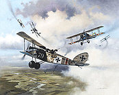 The Forge, Halberstadt CL IV aviation art print by Heinz Krebs