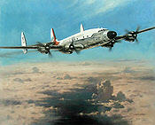 Timeless Beauty, Constellation VC-121A Eisenhower Columbine II aviation art print by Heinz Krebs