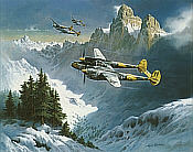 Tribute to a Lockheed Classic, P-38 Lightning aviation art print by Heinz Krebs