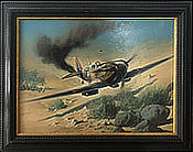 Uncertain Outcome by Heinz-Krebs - Supermarine Spitfire Original Painting