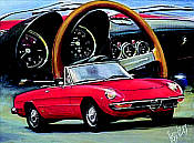 Alfa Romeo Spider automotive art print by Hessel Bes