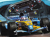 Fernando Alonso 2003 F1 motorsport art print by Hessel Bes