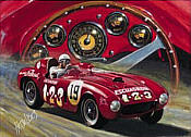 Ferrari 375 plus Carrera Panamericana Mexico motorsport art print by Hessel Bes