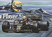 Ayrton Senna John Player Lotus Formula One art print by Hessel Bes