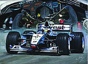 McLaren-Mercedes MP4-15 Formula-1 motorsport art print by Hessel Bes