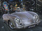 Porsche 356 Speedster automobile art print by Hessel Bes