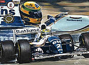 Ayrton Senna Williams Renault F1 art print by Hessel Bes