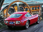 Toyota 2000 GT automobile art print by Hessel Bes