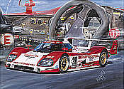 Toyota Le Mans motorsport art print by Hessel Bes