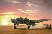 Sicilian Vespers, Junkers Ju 88-C6 aviation art print by Iain Wyllie