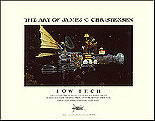 Low Tech - Space travel art poster by James C. Christensen